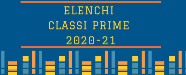 Elenco classi prime A.S. 2020/21
