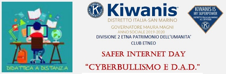 "EVENTO ""SAFER INTERNET DAY CYBERBULLISMO E D.A.D."" del 09/02/2021"