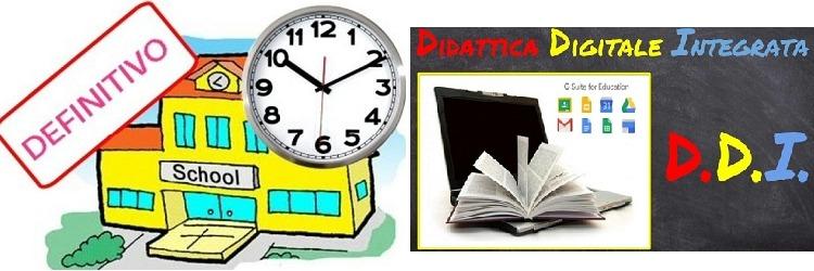 Avvio nuovo orario settimanale – Dispositivi didattici digitali