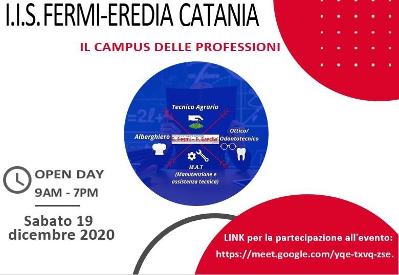 OPEN DAY DEL 19/12/2020 – PROGRAMMA E LINK DI PARTECIPAZIONE