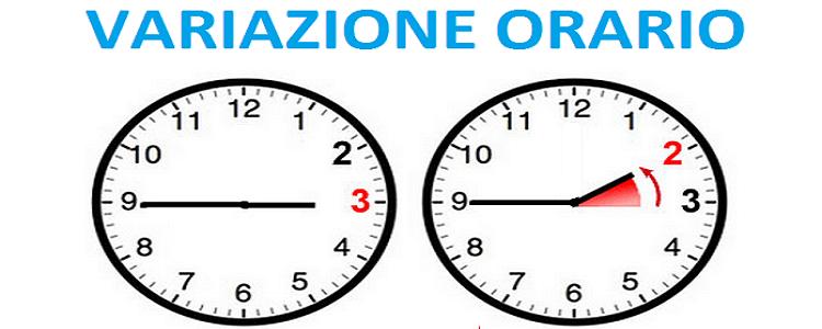 Variazione orario scolastico dal 9 al 16 dicembre 2020